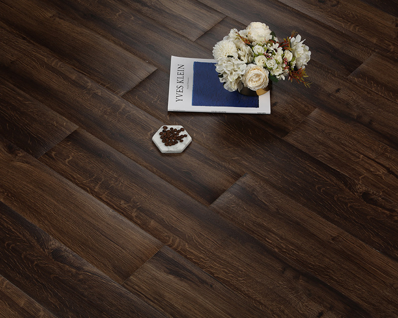Durable Textured Deep Embossed Pvc Click Vinyl Floor Tile 2mm Thickness